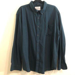 St. Johns Mens dark blue/green longsleeve flannel